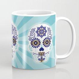 Día de Muertos • Mexican Sugar Skull – Baby Blue Palette Coffee Mug