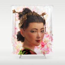 JAPANESE BEAUTY (Geisha, Beautiful Japanese Woman) Shower Curtain