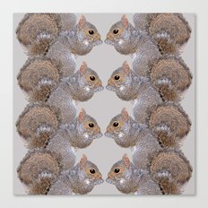 Squirrel Whispers Canvas Print