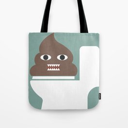 Poop Monster Tote Bag