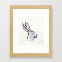 Portrait of Mr Rabbit Framed Art Print