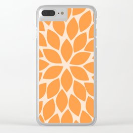 Sherbet Chrysanthemum Clear iPhone Case