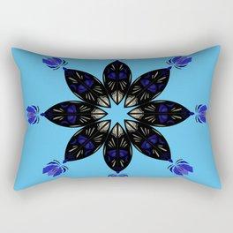 Ornament blueblack Rectangular Pillow