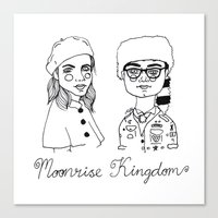 cactei Canvas Prints featuring Moonrise Kingdom by ☿ cactei ☿