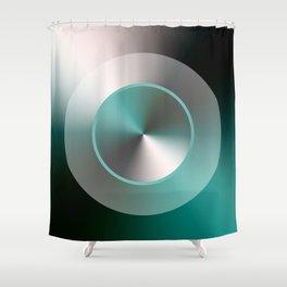 Serene Simple Hub Cap in Aqua Shower Curtain