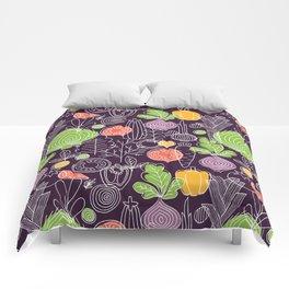 Vegetable Pattern Scandinavian Design Comforters