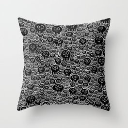 Calaveras (black background) Throw Pillow