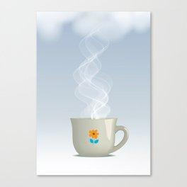 Steaming cup Canvas Print
