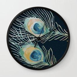 The Peacock Train Wall Clock