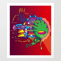 Alien Colors Art Print