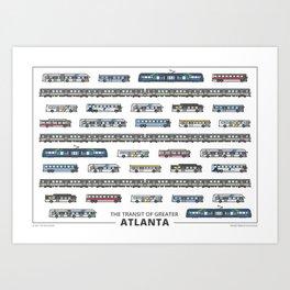 The Transit of Greater Atlanta Art Print