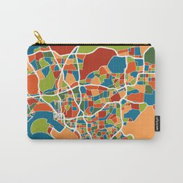 San Diego California Map Art Carry-All Pouch