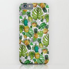 Tumbling Pineapples and Tropical Vibes iPhone Case