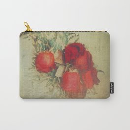 Vintage Red Roses Carry-All Pouch