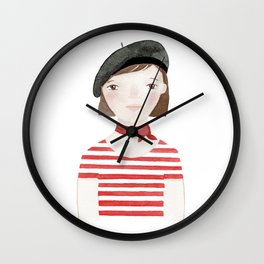 Linette - in color Wall Clock