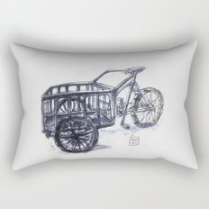 vietnam delivery bike Rectangular Pillow