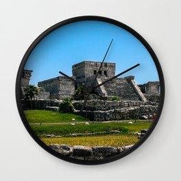 Tulum Ruins Wall Clock