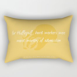 Sorting Hat Poem - Hufflepuff Rectangular Pillow
