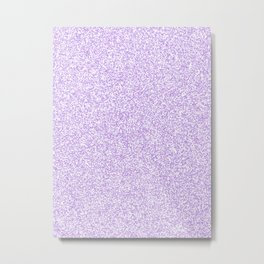 Spacey Melange - White and Light Violet Metal Print
