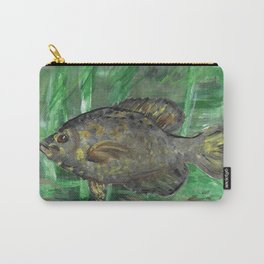Black Crappie Fish in River Water Carry-All Pouch