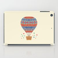 hot air balloon iPad Cases featuring Hot Air Balloon by haidishabrina
