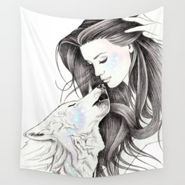 Witch Wolf Wall Tapestry