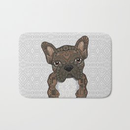 Brindle Frenchie 001 Bath Mat