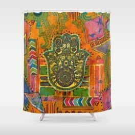 Boho & Batik Hamsa Shower Curtain