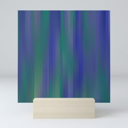 DREAMS cool ombre shades of blue and green chalk lines Mini Art Print