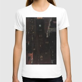 New York City Night Skyline landscape by Georgia O'Keeffe T-shirt