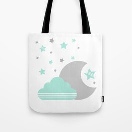 Moon And Cloud Tote Bag