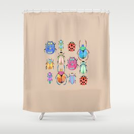 Insect pattern | Entomology art Shower Curtain