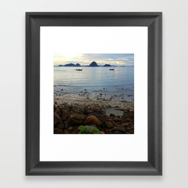 Row, Row, Row Your Boat Framed Art Print