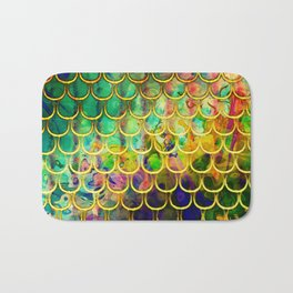 Scales Edged in Gold Bath Mat