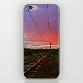 Northern sunset at white night iPhone Skin