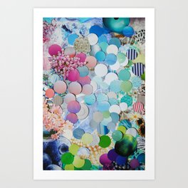 Blueberry Garden Art Print