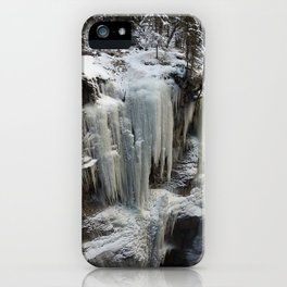 Maligne Canyon Ice Structures iPhone Case