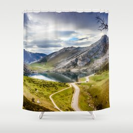 The Lakes of Covadonga, Enol Shower Curtain