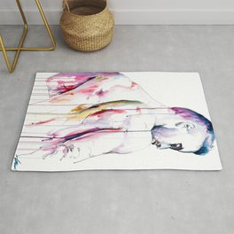 Restless Nature in Watercolor Rug
