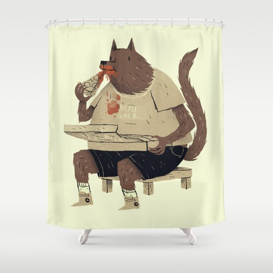 hungry like the wolf Shower Curtain