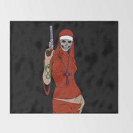 Skull nun Throw Blanket