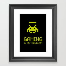 Gaming is my religion Framed Art Print