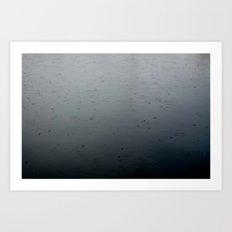 raindrops, south lake union Art Print