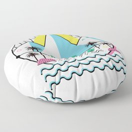 Land of the Bold and Abstract Floor Pillow