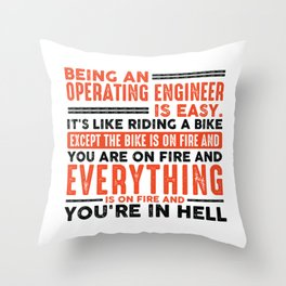 Being a Hairdresser Is Easy Shirt Everything On Fire Throw Pillow