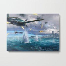 Naval Battle Metal Print
