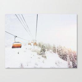 Orange Bubble Canvas Print