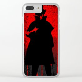 Jack the Ripper Blood Background Clear iPhone Case