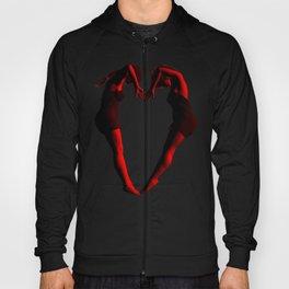 Heart Shaped Posing Females Hoody