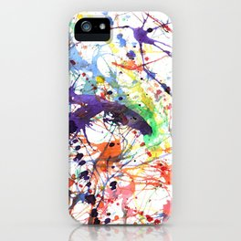 Watercolor Splatters iPhone Case